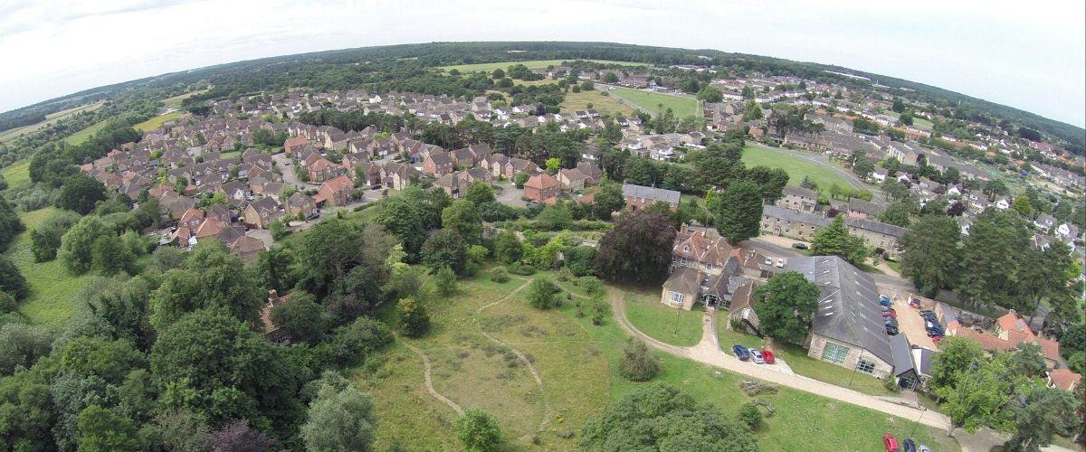 Aerial photo of Thetford, Simon Gillings