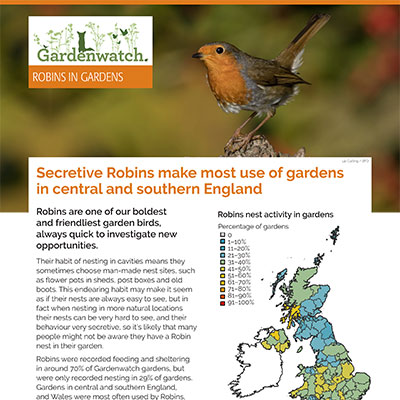Gardenwatch - Robin guide cover