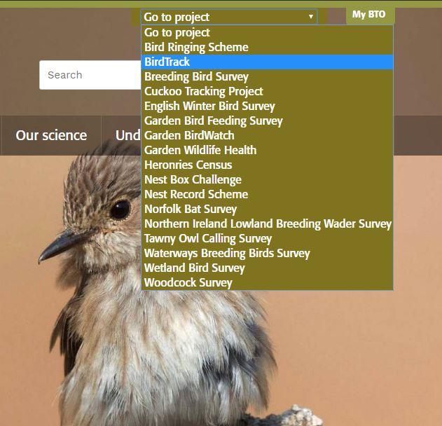 Revised website jump menu