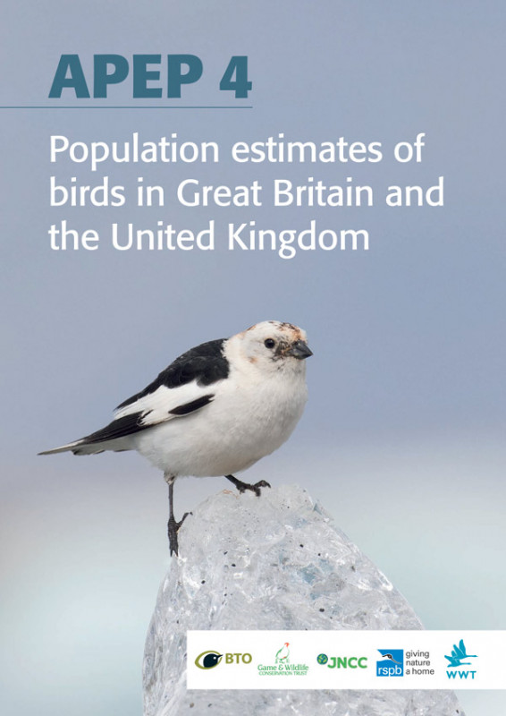 APEP 4 - population estimates of birds in Great Britain and UK cover