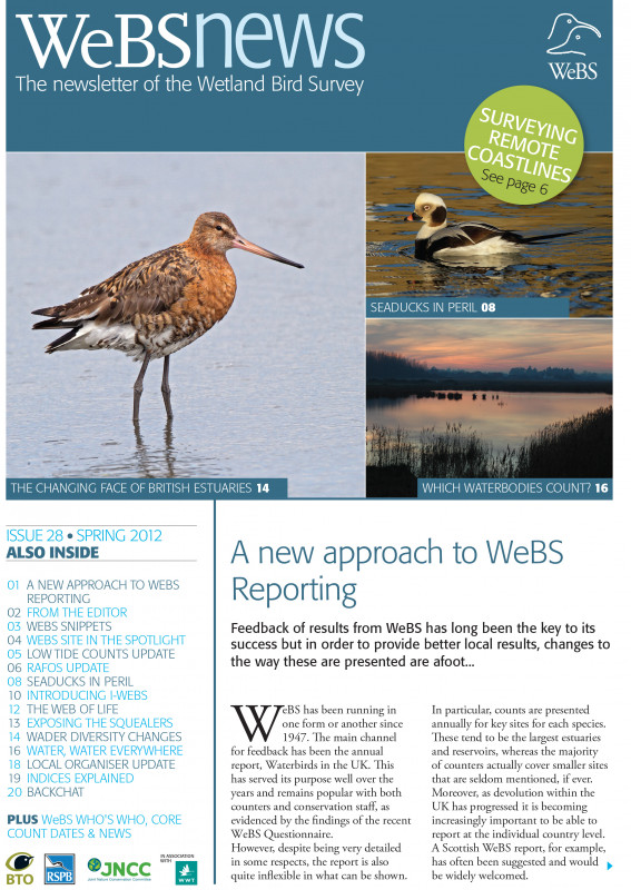 WeBS news - spring 2012 cover