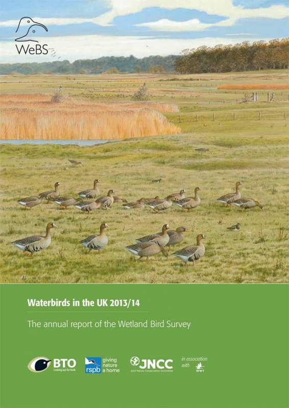 Waterbirds in the UK report -2013-14 cover