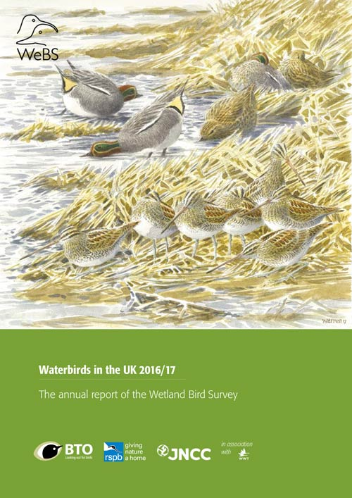 Waterbirds in the UK 2016-17 cover