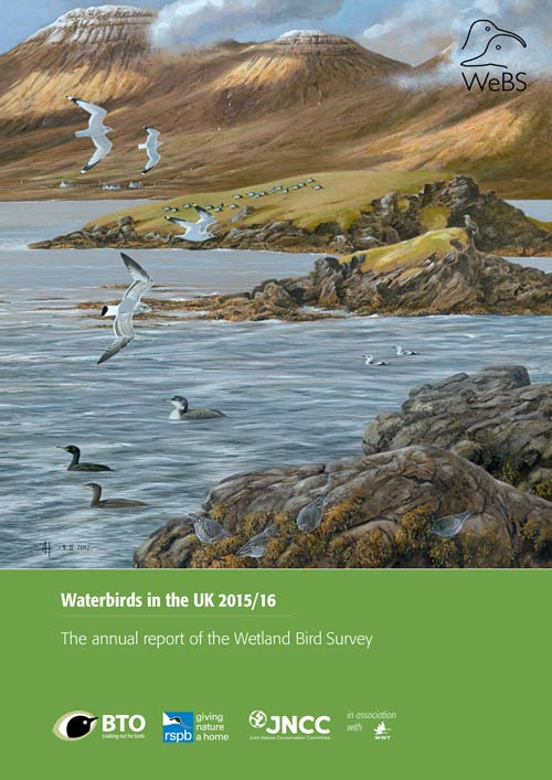Waterbirds in the UK report -2015-16 cover