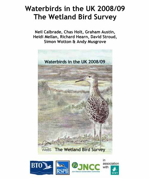 Waterbirds in the UK report -2008-09 cover