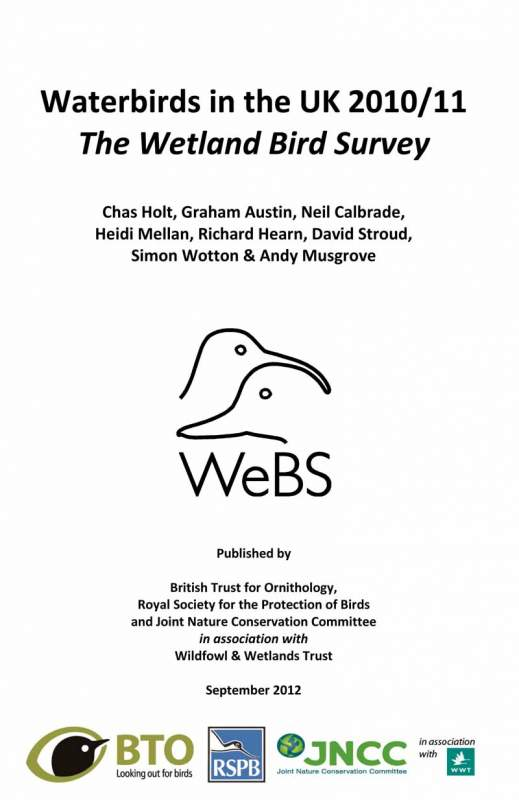Waterbirds in the UK report -2011-12 cover