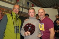George Dunbar with BTO CEO Andy Clements and TV Presenter Mike Dilger