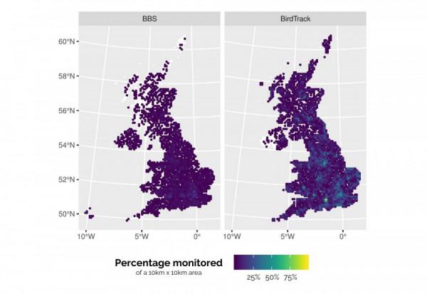 BirdTrack maps