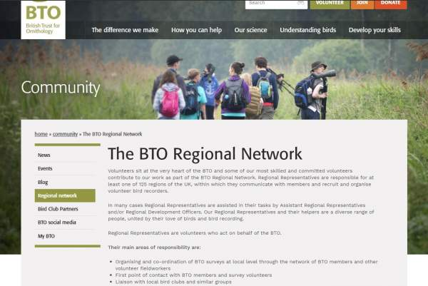 Revised website - Regional Network page