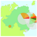 Northern Ireland map with short-term WeBS alert pie charts