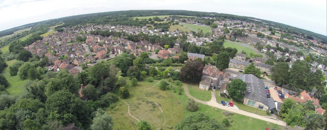 Aerial photo of Thetford, Simon Gillings