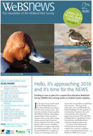 WeBS news - autumn 2015 cover