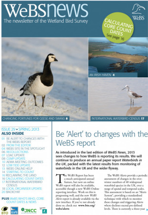 WeBS news - spring 2013 cover
