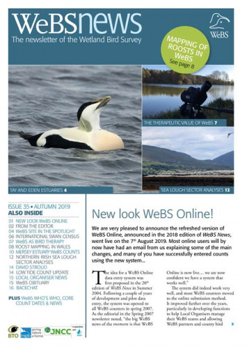 WeBS News issue 35 cover