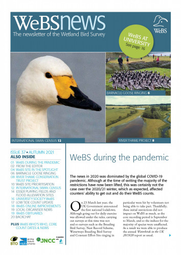 WeBS News issue 37 cover