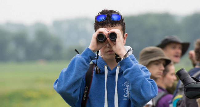 Toby with binoculars - Rob Read