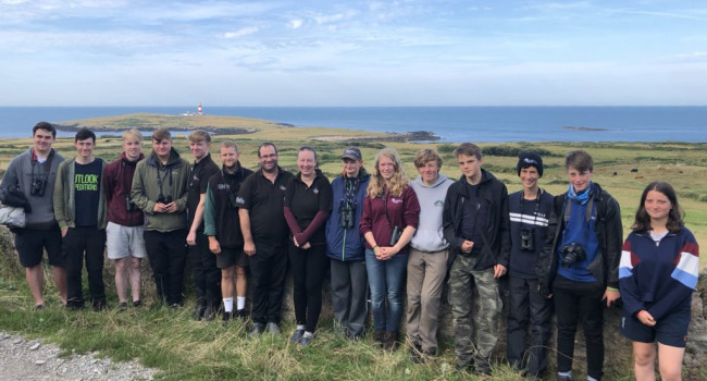 Attendees and staff of the 2019 Bardsey Young Birders' Week - Steve Stansfield