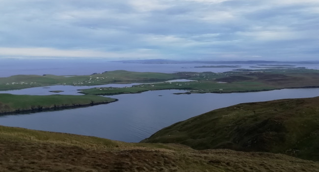 View westwards from the Clift Hills, South Mainland, Shetland