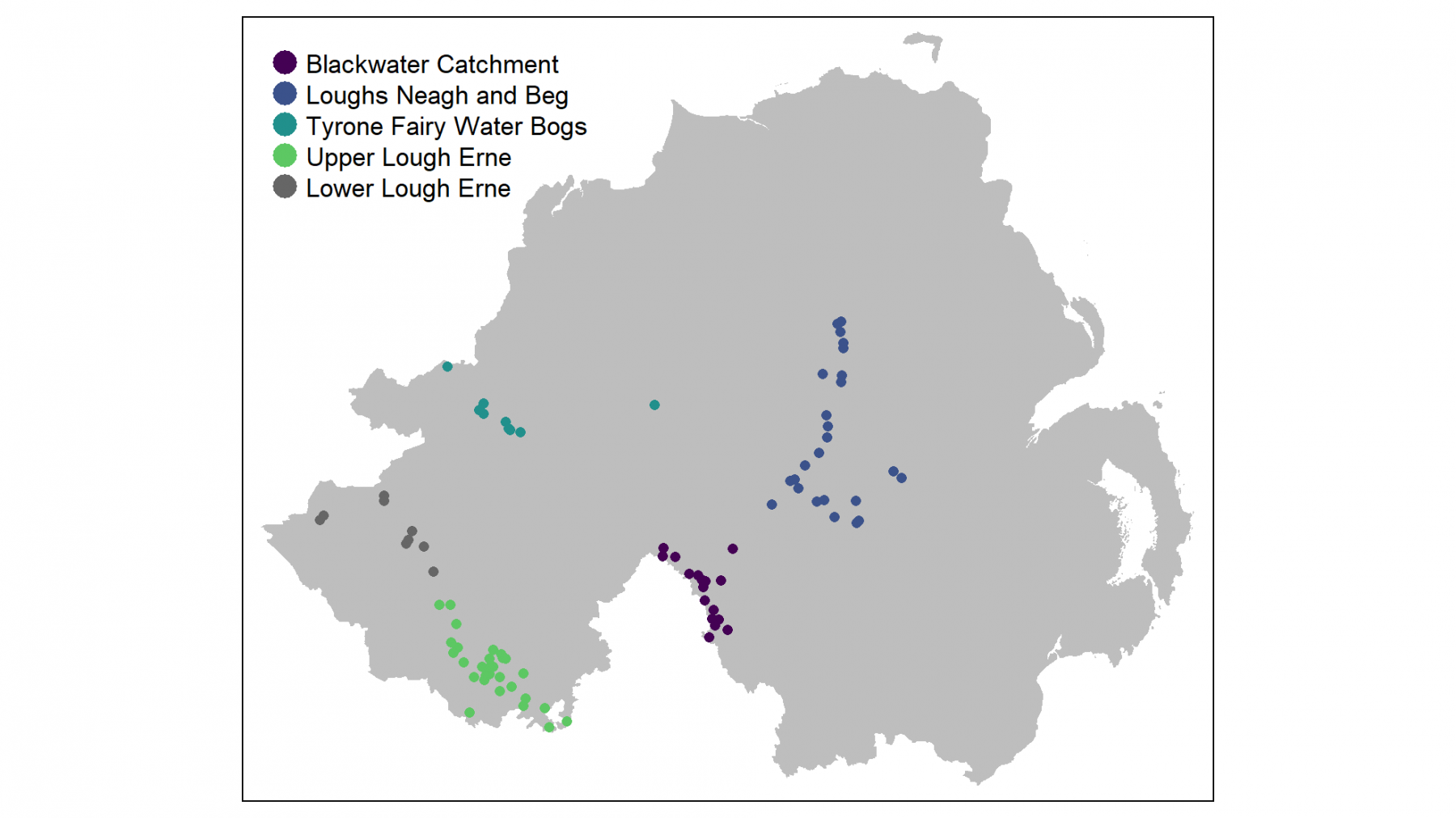 Northern Ireland Lowland Breeding Wader Survey map
