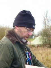 Nick Tardivel surveying by Jill Tardivel