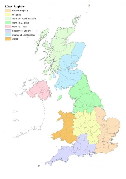 WeBS Local Organiser Committee Regions