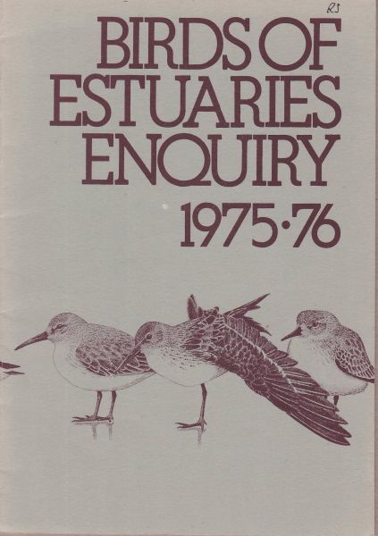Birds of Estuaries Enquiry 1975-76