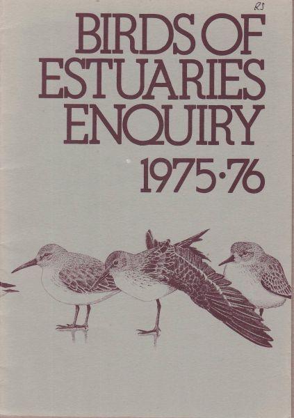 Birds of Estuaries Enquiry 1975-76