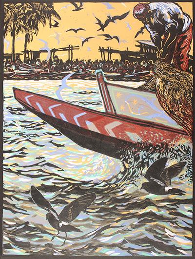Senegal shoreline. Bruce Pearson