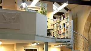 Staircase to the Chris Mead Library by David Kirkham