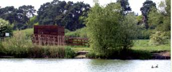 The hide on the Nunnery Lakes Reserve