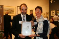 Dr Jane Reid with Professor Bill Sutherland