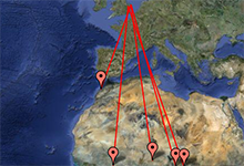 Cuckoo tracking map