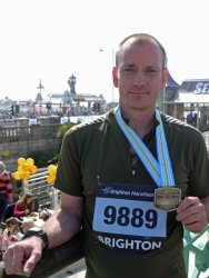 Mark ran the Brighton Marathon for BTO in 2013