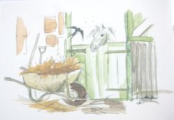 A picture from one of the Rusty storybooks