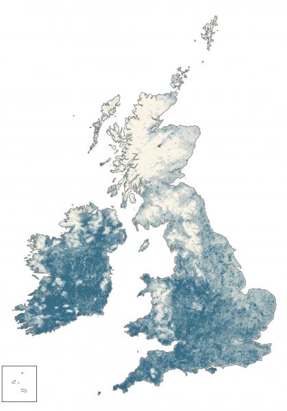 Redwing Winter Abundance map